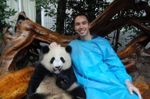 Alex with panda