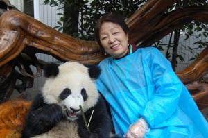 Mom with panda