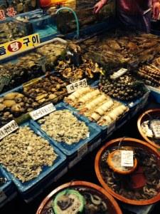 Already de-shelled shellfish