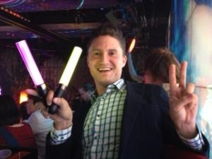 Paul with Glowsticks