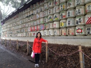 Donated Saki Barrels at Meiji