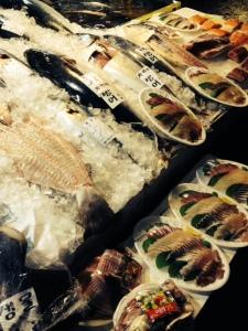 Already prepared sashimi