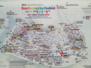 Ice Festival Map