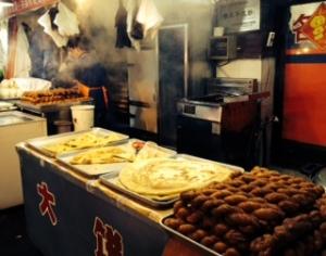 Large scallion pancakes and mahua