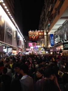 Crowded streets of Ladys' Market