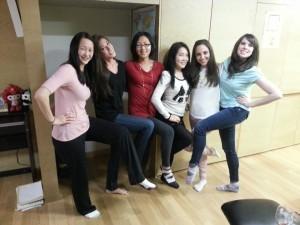 Girls full on kimbap