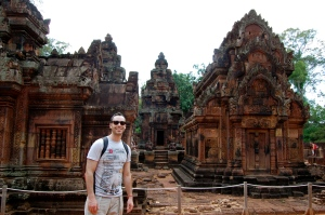 Alex at Banteay Srei
