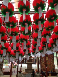 Bongeunsa Temple: Red Lanterns
