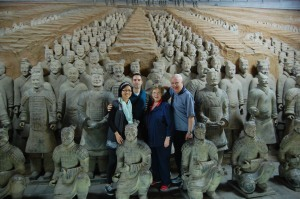 """With"" Terracotta warriors"