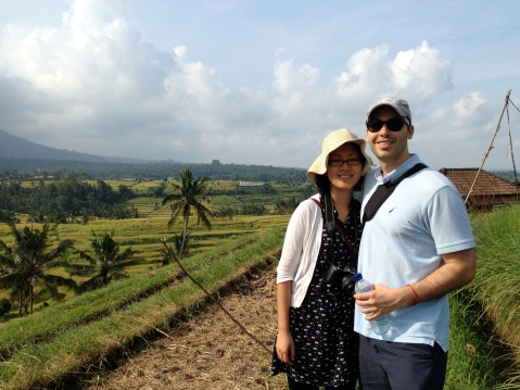 Along our rice field walk