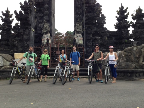 Biking tour group