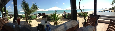 Our view from lunch at Jimbaran Bay