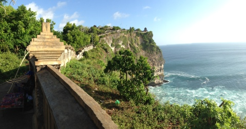 Ulu Watu Temple on a cliff