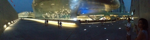 Dongdaemun Design Plaza lit up