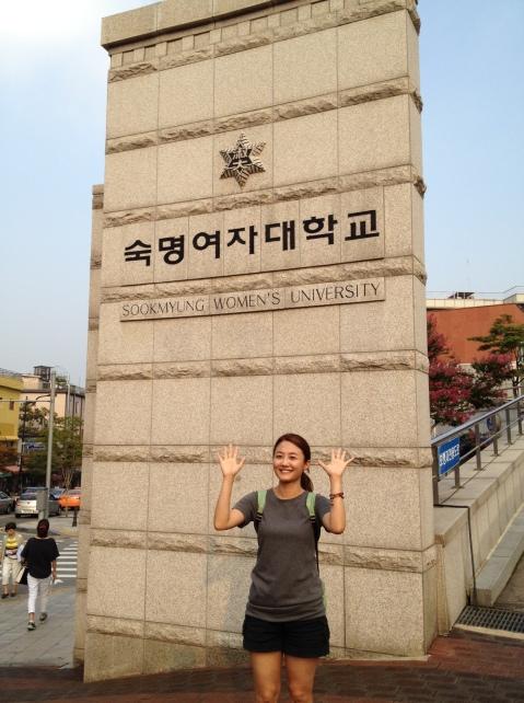 So proud of her school!