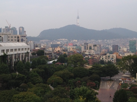 View from rooftop of North Seoul Tower