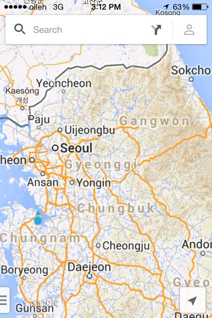 Where Dangjin is, relative to Seoul