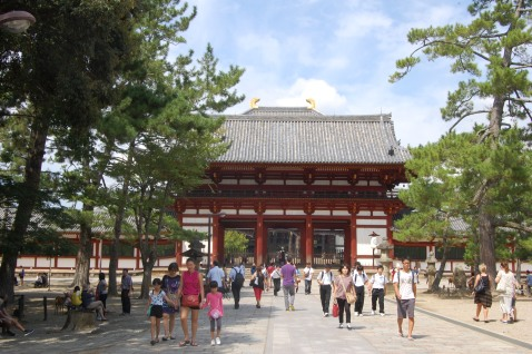 Walking to Todaiji Temple
