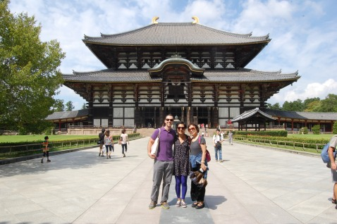 Three of us in front of Todaiji Temple