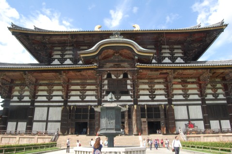 Close-up of Todaiji Temple
