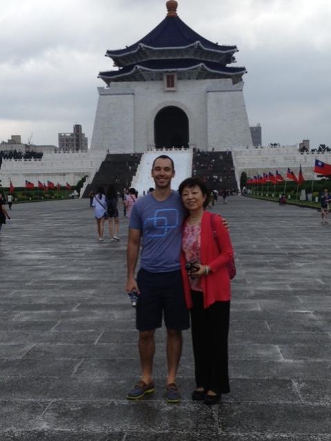 In front of Chiang Kai Shek Memorial Hall