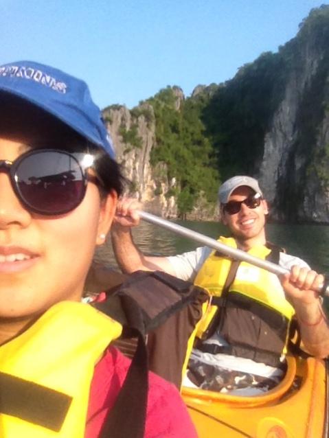 Enjoying our double kayak
