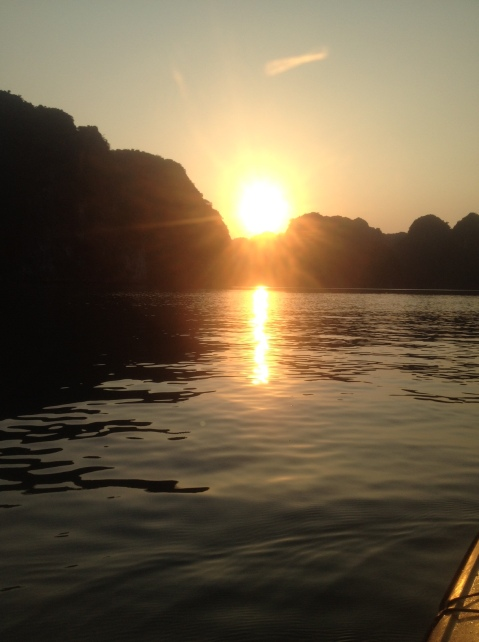 Sunset from the kayak