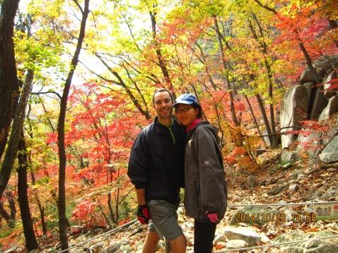 Beautiful fall foliage on Dobongsan (photo credit: James G)