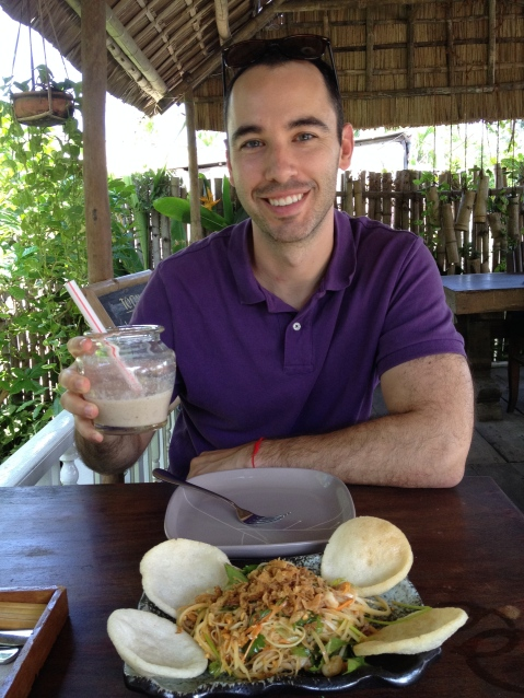 Enjoying our first lunch in Hoi An
