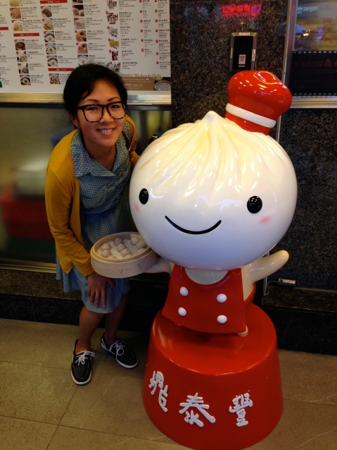 With the adorable Din Tai Fung mascot