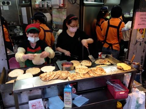Scallion pancake street stall