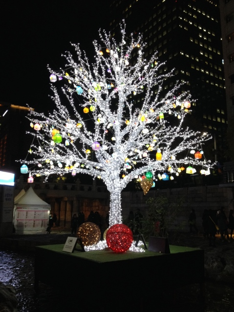 Christmas tree at the Lantern Festival