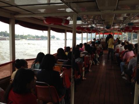 Ferry up Chao Phraya River