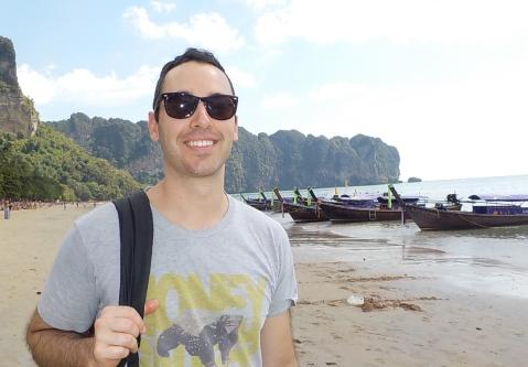 Ao Nang beach to board our long tail boat