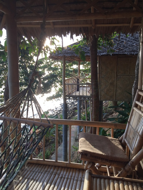 View of other bungalows from our balcony