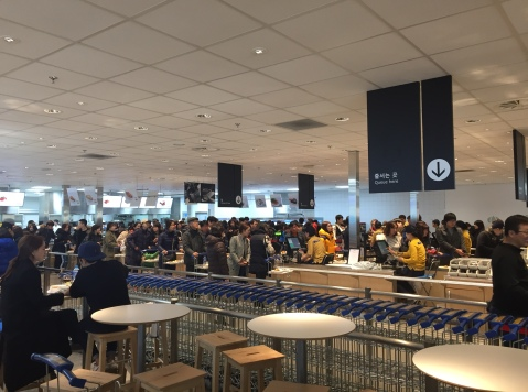 Lines at IKEA's restaurant