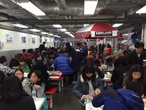 Food court at Costco