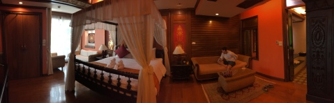 Our beautiful hotel room