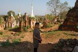 Enjoying the stupas