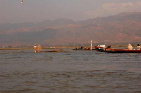 Fishermen & mountains