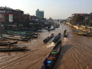 Boats leaving from Nyaung Shwe