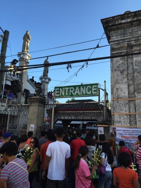 Santo Niño Church - full for Palm Sunday