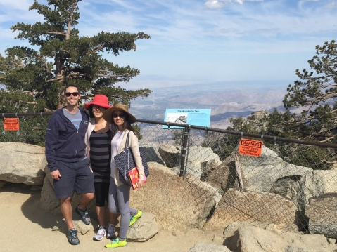 Alex, Jeanie, and me at the top of Mountain Station