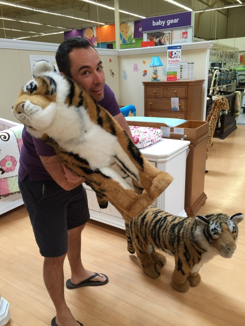 Can we buy this stuffed tiger, please?!