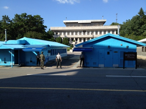 Conference rooms in the JSA, looking into North Korea