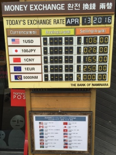 """Exchange rates"" for other currency"